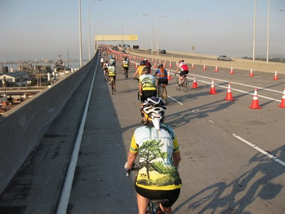 Climbing onto the Coronado Bridge
