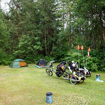 First night of camping- Everette's lawn