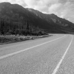 Alaskan highway along Kluane Lake