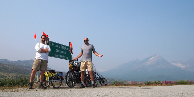 we didn't even know we'd made it to the Haines Highway Summit