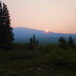 sunrise in the Kluane National Park