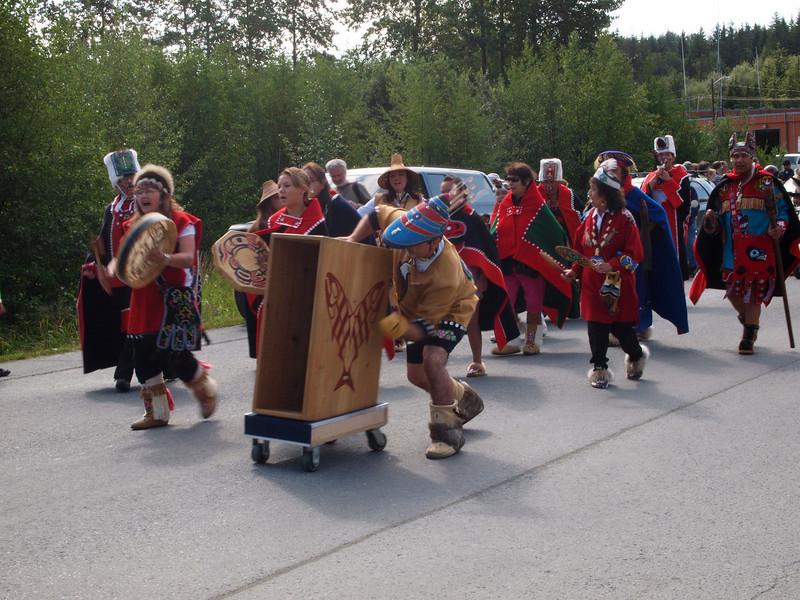 Tlingit parade dancers