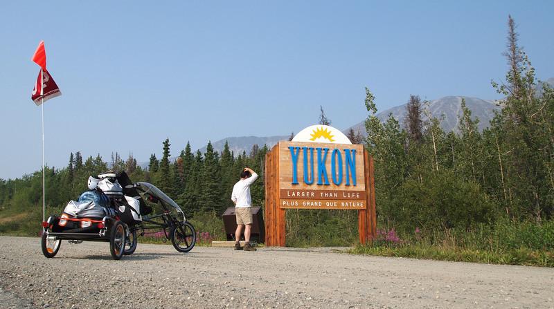entering the Yukon Territory