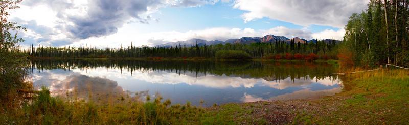 panoramic of the Alaskan Range