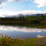panoramic of the Alaskan Range