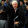 Former President Bill Clinton salutes the crowd at the 2009 FAMU Graduation held on May 3, 2009 at FAMU in Tallahassee, FL.
