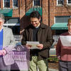 Barry Jacobs, chair of the Orange County Board of Commissioners, gathered with Chapel Hill mayor Mark Kleinschmidt and Carrboro mayor Lydia Lavelle at Peace and Justice Plaza on Sunday. The three were participating in Bill of Rights Day to commemorate the ratification of the document 222 years ago.