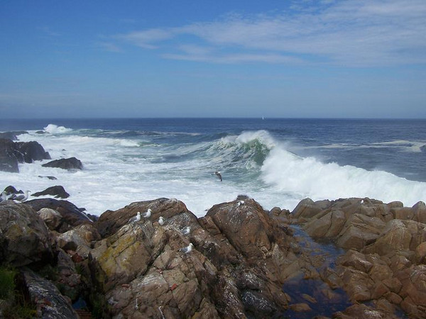 Sunday, 20 foot waves on the east side of the Island.