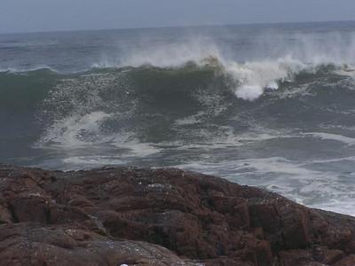 Hurricane Bill passes Thacher Island 2009