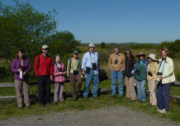 "Other teams gathered and began their explorations like this group from Habitat that went to Plum Island...  <font size=""2"">Photo by Paul Roberts</font>"