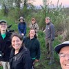 Team Drumlin Farm bird watching at dusk
