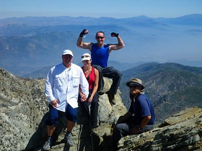 Joe's Birthday Week & Hike to Cucamonga Peak, Mt Baldy CA September 17, 2011