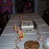 Birthday cake and apple pie