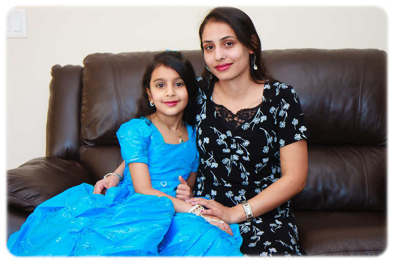 Sakshi's 8th Birthday - Pictures taken before party