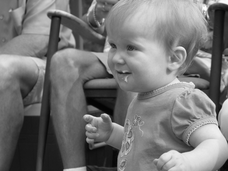 Olivia First Bday 2011 6 31 bw