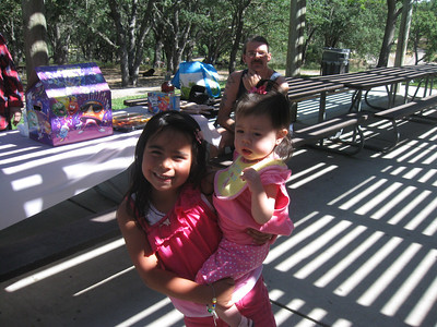 Alondra and Leticia. Ted in the background.