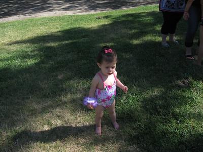 Leticia at Alondra's birthday party