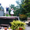 This entertainment evolved into a cute dance and then they actually got in the hot tub for more play.