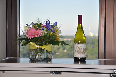 Flowers & Wine at the hospital