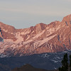 A view of the Eastern Sierras from our campground in the morning.