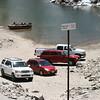 Keep those cars off of the private dock at Lake Sabrina.
