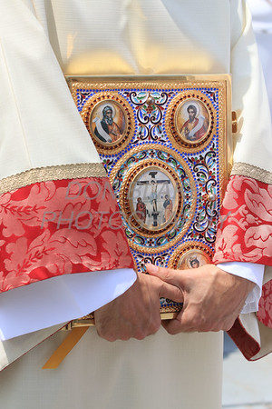 The Book of Gospels that with be held over Bishop William Koenig head during his Ordination Mass at St. Elizabeth Church, Tuesday, July 13, 2021. Photo/Don Blake