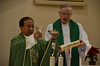 Archbishop Sudarso and Fr. John van den Hengel