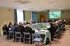 Bishops listen to Fr. van den Hengel's presentation