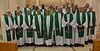 Bishops and members of the General Curia following the closing Mass of the bishops conference
