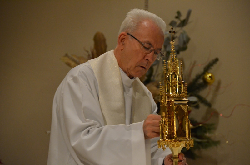 Fr. Claudio Weber during Friday's morning Adoration