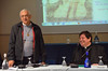Fr. José Ornelas Carvalho introduces Cardinal João Braz de Aviz, prefect of the Congregation for Institutes of Consecrated Life and Societies of Apostolic Life