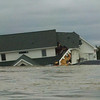 The only house actually taken by the flood and sunk in the river in the Bismarck area.  Photo downloaded from the internet