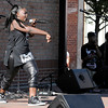 Don Knight   The Herald Bulletin<br /> Black Expo Talent Show on the stage at Town Center Park on Friday.
