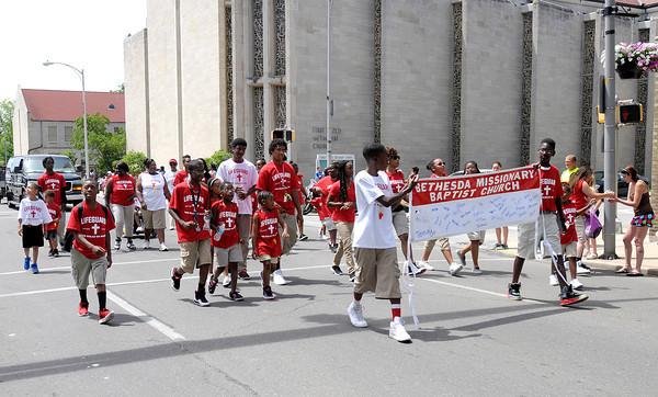 Don Knight   The Herald Bulletin<br /> Black Expo parade on Saturday.
