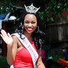 Don Knight | The Herald Bulletin<br /> Miss Indiana University A'niyah Birdsong waves to the crowd during the Anderson Black Expo parade on Saturday.