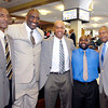 John P. Cleary | The Herald Bulletin<br /> The Anderson Chapter Indiana Black Expo Corporate Luncheon honored Anderson's five Mr. Basketball Award winners Thursday. They are Roy Taylor-1974, Ray Tolbert-1977, Troy Lewis-1984, Kojak Fuller-1993, and Johnny Wilson-1946.