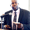 John P. Cleary | The Herald Bulletin<br /> Former Madison Heights and Indiana University standout Stew Robinson was the speaker for the Anderson Chapter Indiana Black Expo Corporate Luncheon.