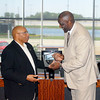 John P. Cleary | The Herald Bulletin<br /> The Anderson Chapter Indiana Black Expo  honors Anderson's 1977 Mr. Basketball Ray Tolbert during their Corporate Luncheon.