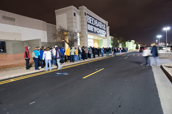 Waiting for Kohl's to open.