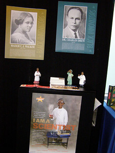 Black History Month at FASEB (left): Madame C.J. Walker was a St. Louis washerwoman-turned-entrepreneur. Walker invented a method to soften and smooth African American hair in 1905. She was the first self-made female millionaire in America.