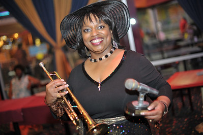 """Lady """"J"""" Huston eMail: thelady@msjoyce.com  """"Z"""" Lipsky, Manager Official Blues Ambassador (702) 391-3040 eMail: zlipsky@cox.net  http://www.msjoyce.com   myspace.com/ladyjhuston   youtube.com/ladyjhuston   facebook.com/ladyjhustonfireballs  6th annual Black Music Awards and red carpet and ceremony at Las Vegas Rocks Cafe in downtown Las Vegas on the corner of Fremont and Las Vegas Blvd.   Photograph by Mark Bowers Copyright 2010 All Rights Reserved"""