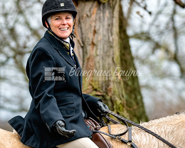 Wendy Foley riding to The Blessing of the Hounds Ceremony. The Long Run Woodford Hounds at Shakertown Village, Harrodsburg, Kentucky 11.24.18 Photos by Laura Palazzolo