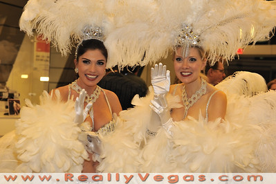 """Image from """"Bling! An Exhibit of Iconic Showgirl Costumes"""" showing in the lobby of Building C at the World Market Center in Las Vegas."""