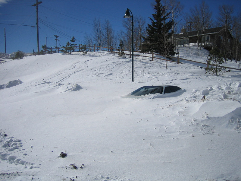 This car has been parked at the Park'n'Ride since before the December 2006 blizzard. It's been buried, cleared, and buried again.