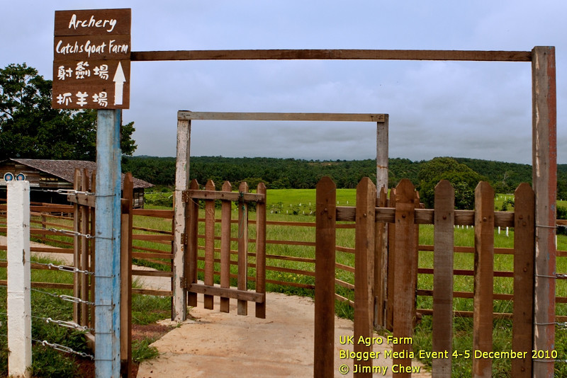 This is the entrance to the archery and goat-catching recreational areas.