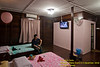 The chalet. It has air-conditioning, LCD TV (S'pore channel on screen) and a mini fridge. Washroom (with heater) is on the right -- comes with goat toiletries -- soap and shampoo.<br /> <br /> This photo is from my previous visit. In this photo: Mervyn.