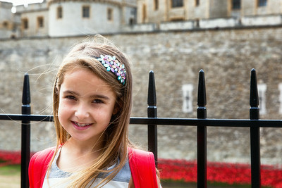 Evie at the Tower