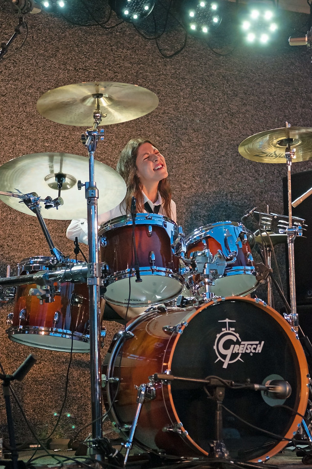 Blooze Brothers Band drummer Gina Knight