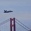 Blue Angel over Golden Gate Bridge