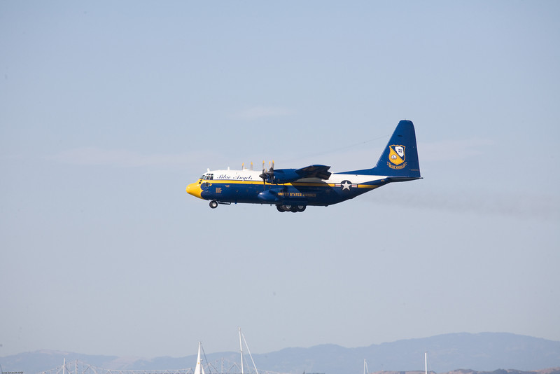 The C-130 know as Fat Albert always starts the show